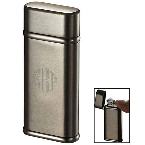 Personalized Tendre Satin Gunmetal Cigarette Lighter