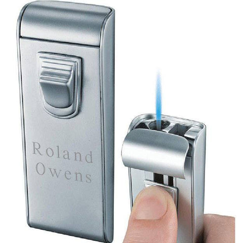 Maximus Matte Chrome Cigarette Lighter with Engraving