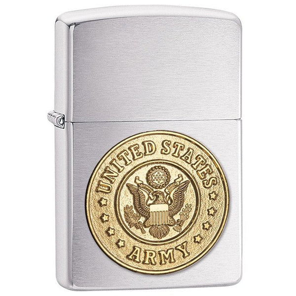 Army Emblem Zippo Lighter with Engraving