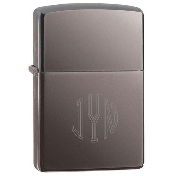 Black Ice Zippo Lighter with Personalization