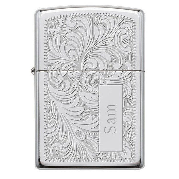 "Zippo ""Venetian"" Lighter - Easy Personalized Gifts"