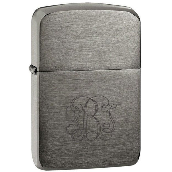 1941 Replica Black Ice Zippo Lighter with Engraving
