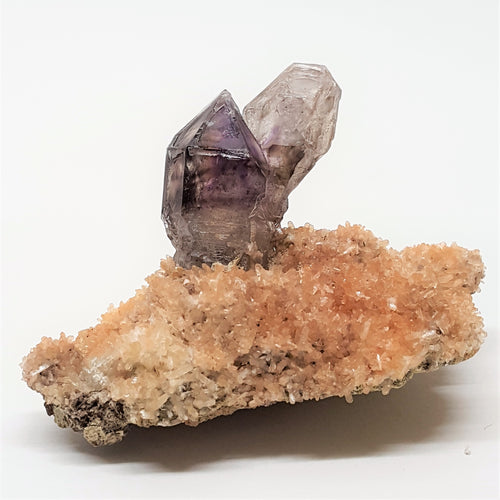 Amethyst Quartz on bed of tiny Quartz Crystals