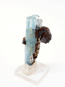 Aquamarine and Black Schorl Tourmaline