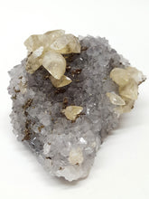 Load image into Gallery viewer, Calcite on Quartz with Chalcopyrite