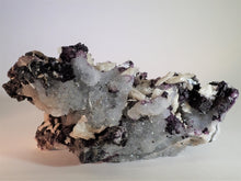 Load image into Gallery viewer, Fluorite with Barite and Quartz Druse