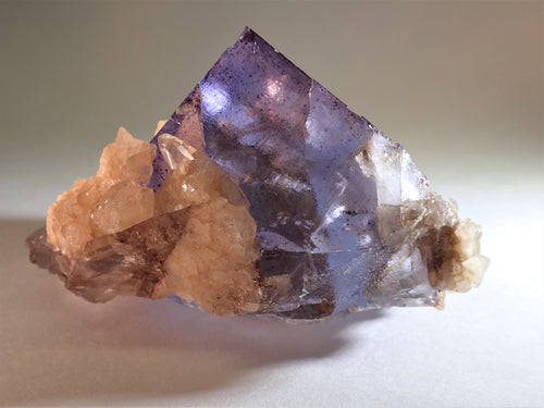 Fluorite with Calcite Crystals