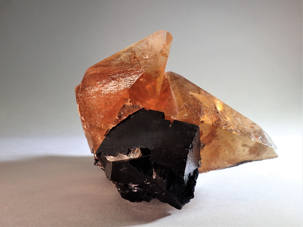 Honey Calcite, Fluorite