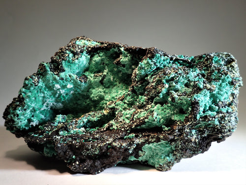 Malachite on Goethite