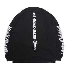"""SMILE IN TROUBLE"" LS T-SHIRT (BLACK)"