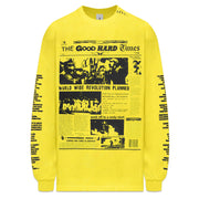 """EXTRA, EXTRA"" LS T-SHIRT (YELLOW)"