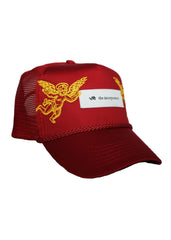 """GOOD V. HARD"" TRUCKER HAT - RED"