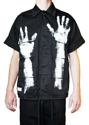 """LET ME OUT"" CARGO SHIRT (BLACK)"