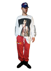 """HEAVY ELVIS"" LS T-SHIRT (WHITE)"