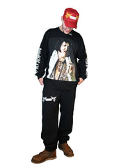 """HEAVY ELVIS"" LS T-SHIRT (BLACK)"