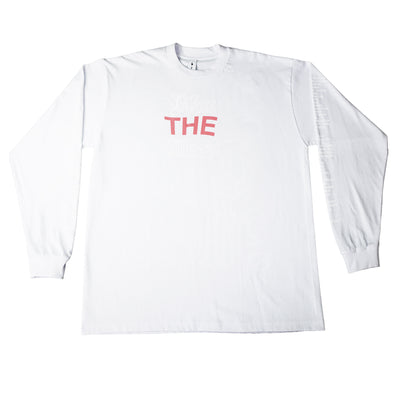 """BLESS THE MESS"" LS T-Shirt - WHITE - The Incorporated"