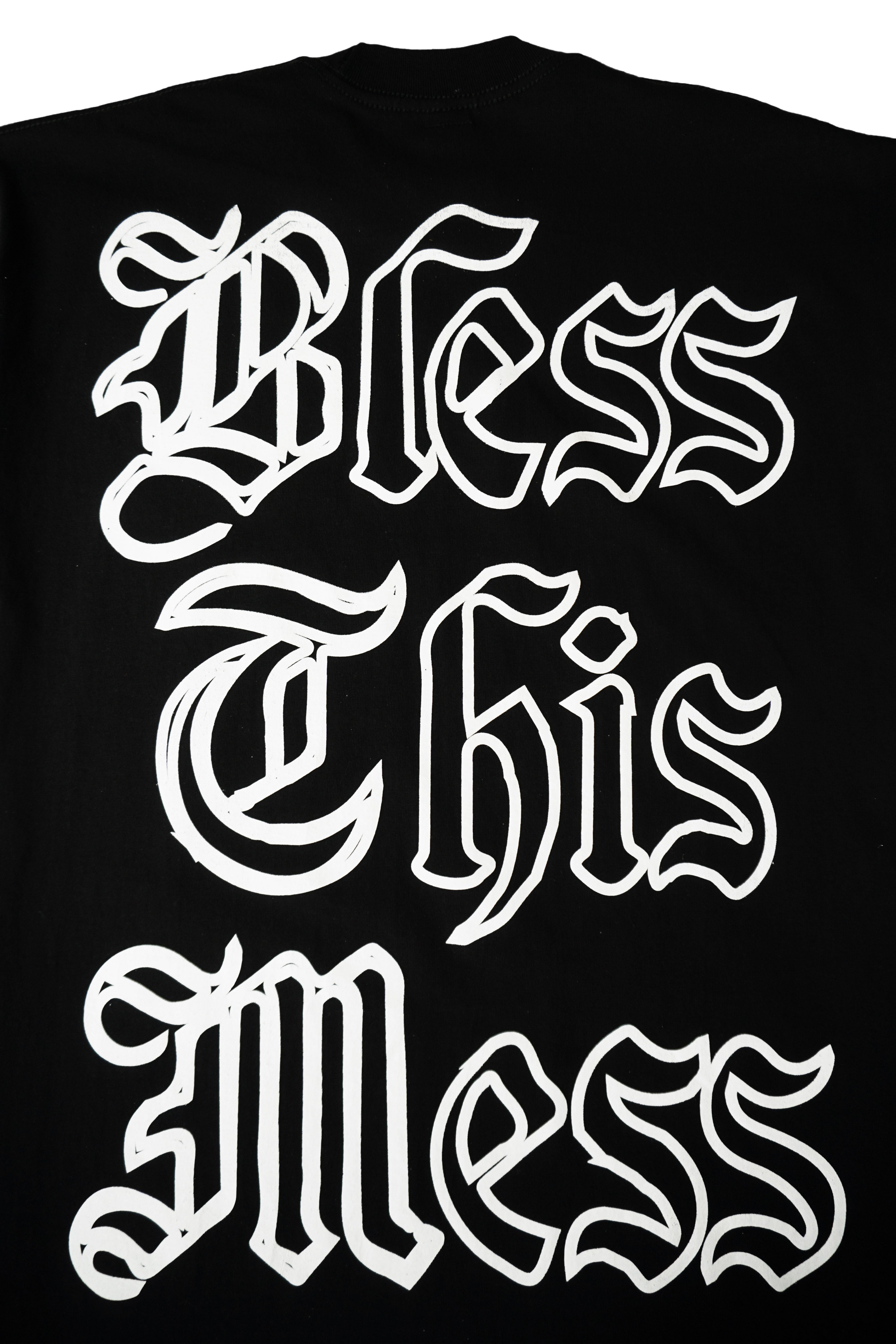 """BLESS THE MESS"" LS T-Shirt - BLACK - The Incorporated"