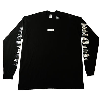 """THE LABEL"" LS T-Shirt - BLACK - The Incorporated"