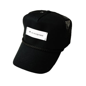 """THE LABEL"" TRUCKER HAT - BLACK - The Incorporated"