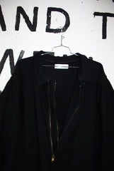 BLACK WOOL TRENCH COAT
