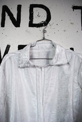 SHINY SHORT SLEEVE OXFORD SHIRT