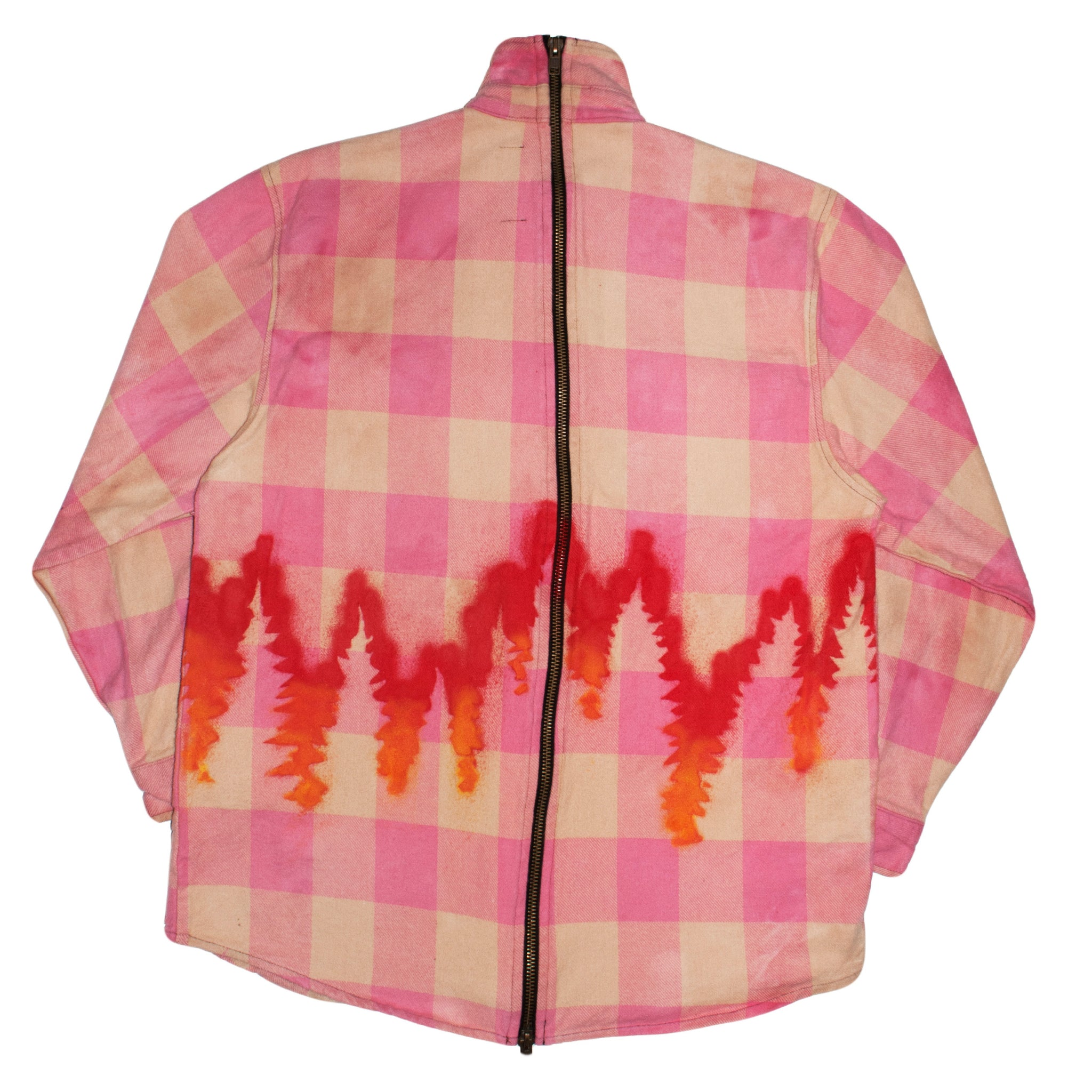 HARD WORK VACATION zip flannel SHERBET - The Incorporated