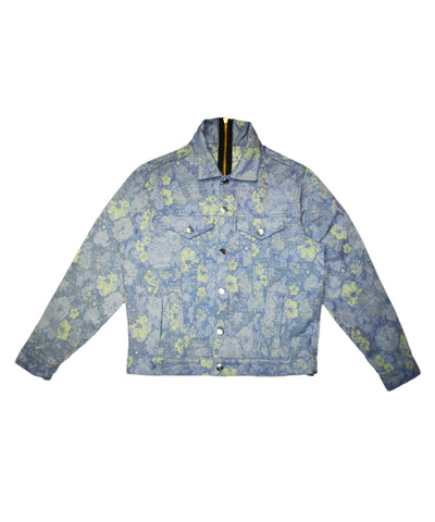 """DENIM"" JACKET - FLORAL UPHOLSTERY - PURPLE - The Incorporated"