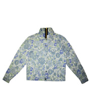 """DENIM"" JACKET - FLORAL UPHOLSTERY - WHITE - The Incorporated"