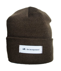 """THE LABEL"" BEANIE (BROWN)"