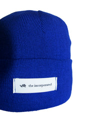 """THE LABEL"" BEANIE (BLUE)"
