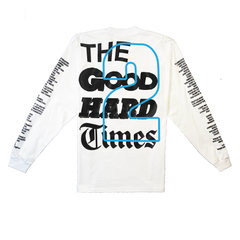 """GOOD Vs. HARD"" LS T-SHIRT (WHITE)"