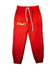 """GOOD Vs. HARD"" SWEATPANTS (VINTAGE RED)"