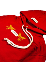 """GOOD Vs. HARD"" HOODY (VINTAGE RED)"
