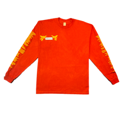 """GOOD Vs. HARD"" LS T-SHIRT (RED)"