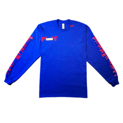 """GOOD Vs. HARD"" LS T-SHIRT (BLUE)"