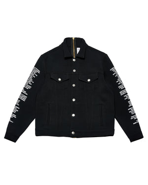"""DENIM"" JACKET - BLACK PERFORMANCE WOOL - The Incorporated"