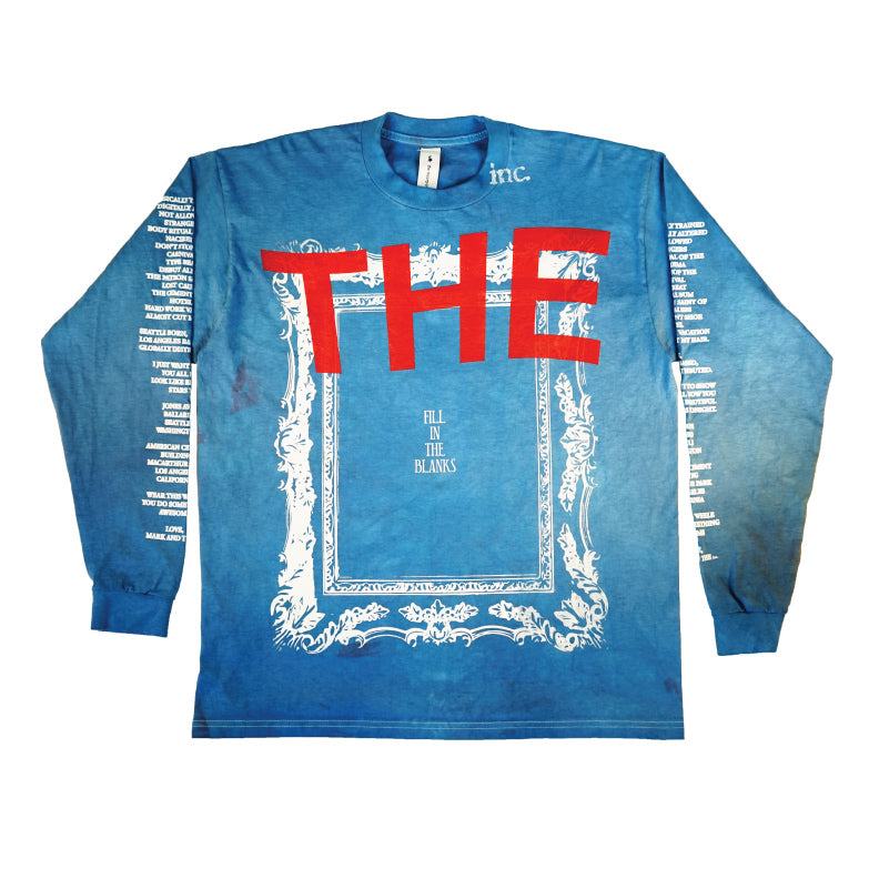 FILL IN THE BLANKS Long Sleeve T-Shirt / ROYAL - The Incorporated
