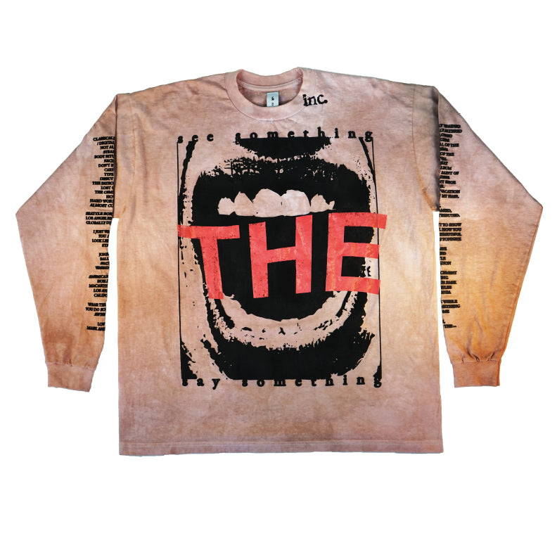 SEE SOMETHING Long Sleeve T-Shirt / CANDY BROWN - The Incorporated
