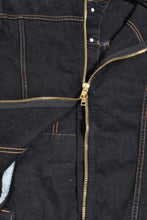 FULL BACK ZIP DENIM JACKET (BLACK) - The Incorporated