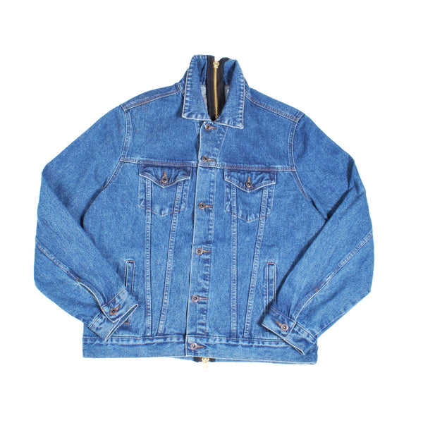 FULL BACK ZIP DENIM JACKET (INDIGO BLUE)