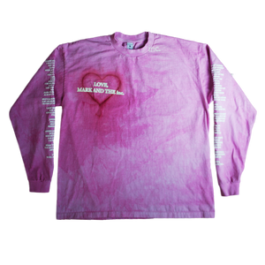 """LOVE"" LS T-SHIRT (PINK) - The Incorporated"