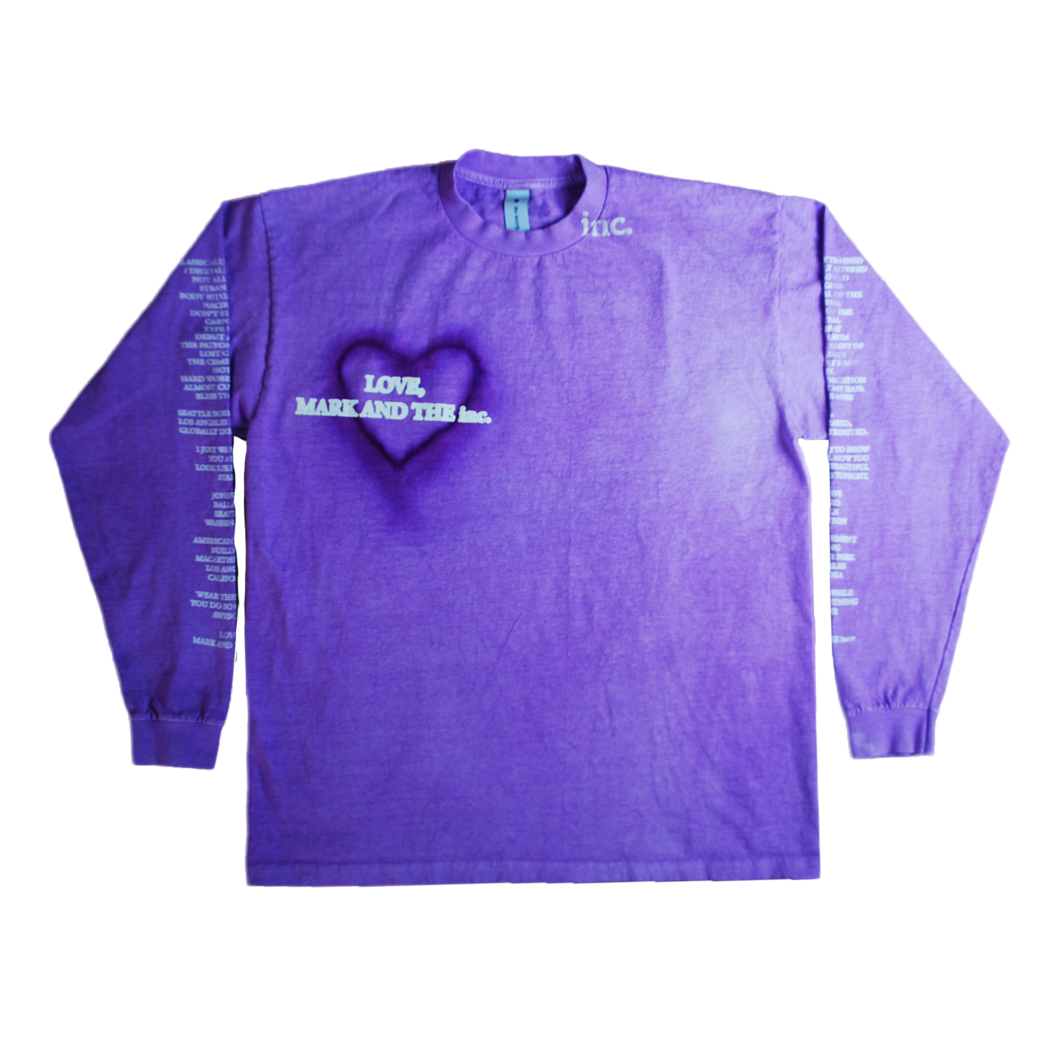 """LOVE"" LS T-SHIRT (PURPLE) - The Incorporated"