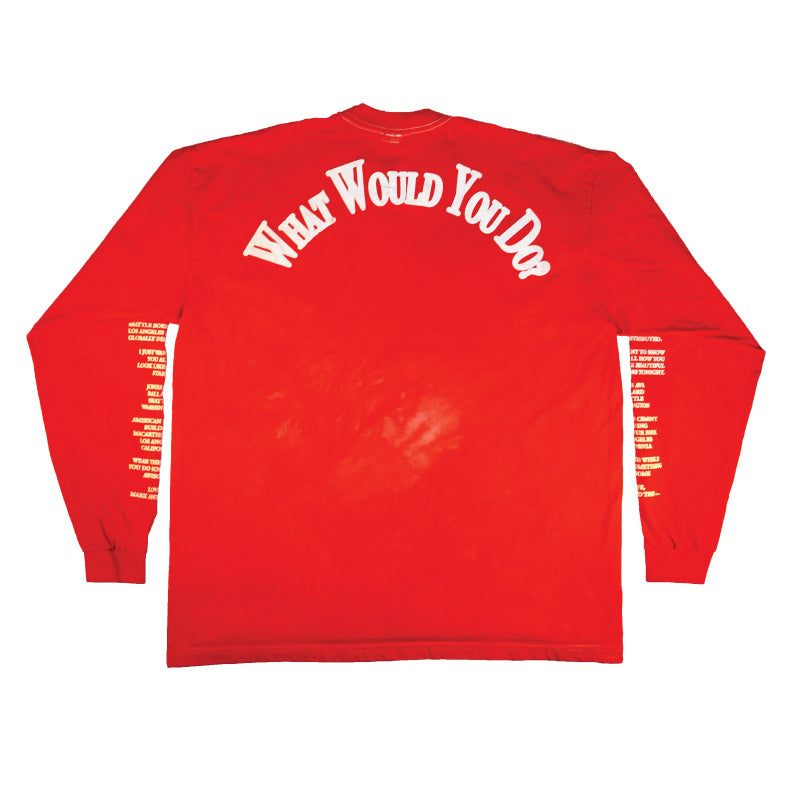 THE WINNER Long Sleeve T-Shirt / RED - The Incorporated