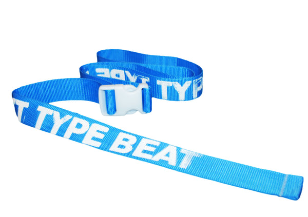 """TYPE BEAT"" BELT (BABY BLU)"