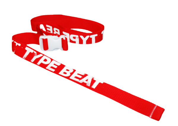 """TYPE BEAT"" BELT (RED)"