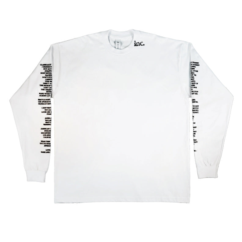 THE LS T-Shirt / WHITE - The Incorporated