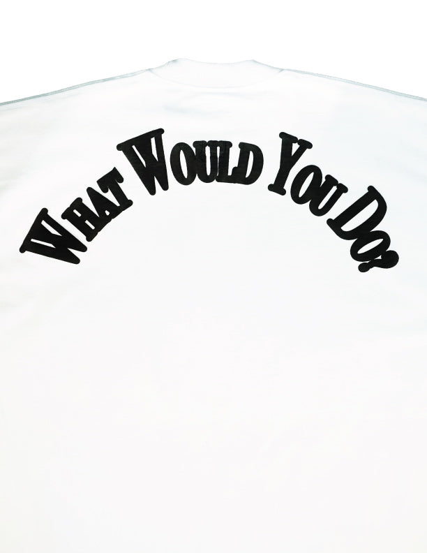 SEE SOMETHING Long Sleeve T-Shirt / WHITE - The Incorporated
