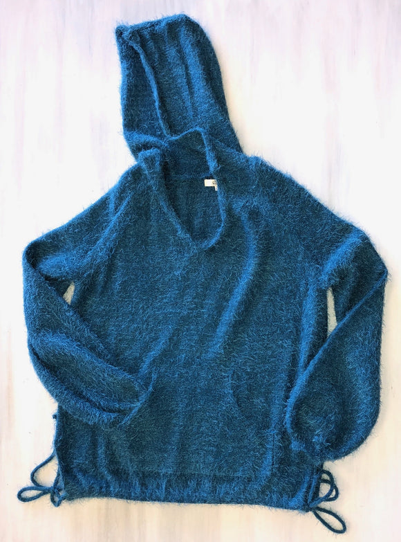 Soft Touch Hoodie in Teal