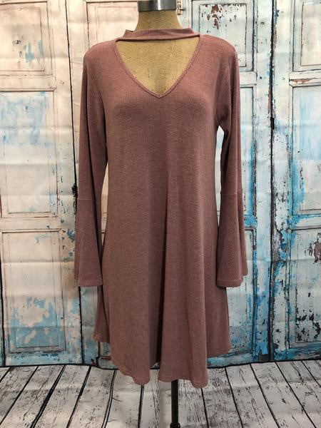 Mauve Ribbed Dress