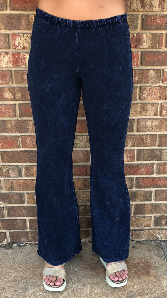 Dark Mineral Washed Bell Bottoms